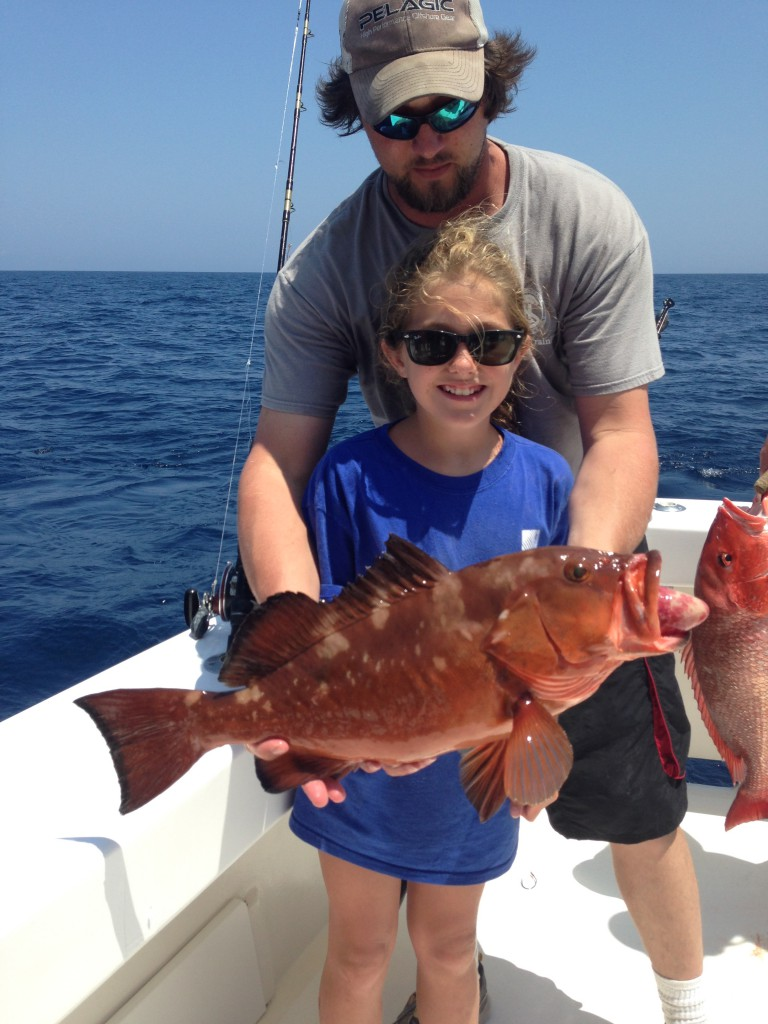 Annie-Girl-Catch-Grouper